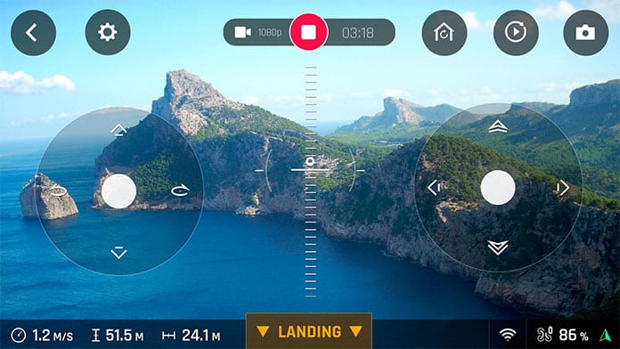 Parrot Drone Freeflight App