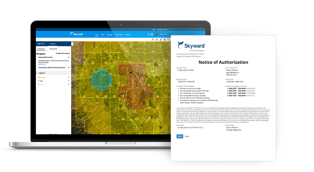 Skyward Commercial Drone Management