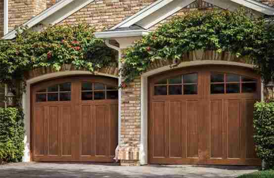 Curbscaping garage door